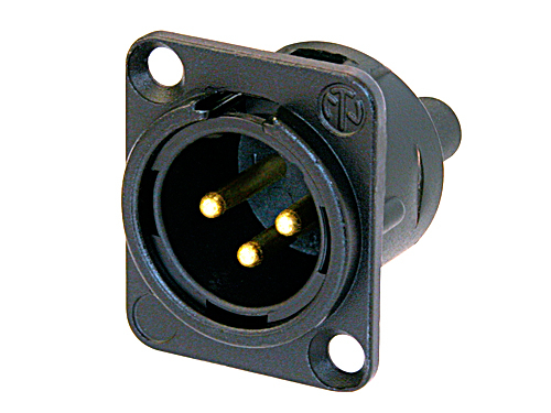 Neutrik NC3MD-S-1-B 3 pole Male Chassis Mount with Screw Terminals